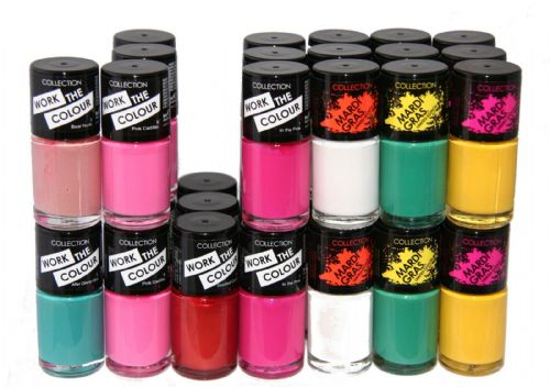 105 x Collection Work the Color Nail Polish | 7 Shade |  RRP £72 | Bulk Buy